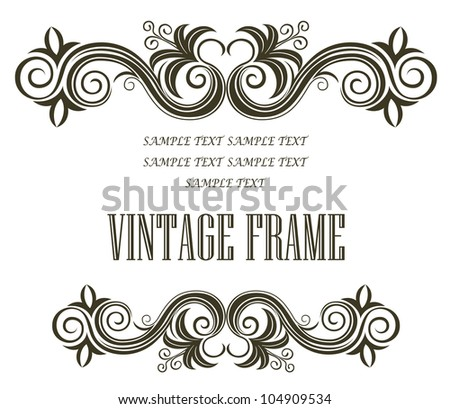 Vintage floral frame. Jpeg version also available in gallery - stock vector