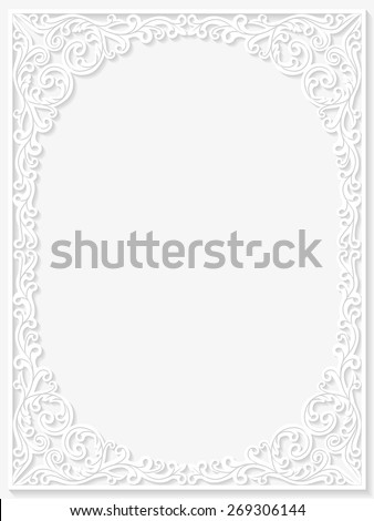 Vintage floral frame. Vector illustration  - stock vector