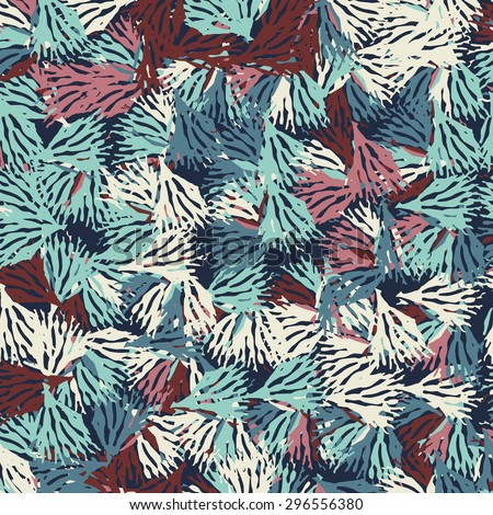 Vintage floral hand drawn seamless pattern. Vector - stock vector