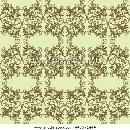 Vintage floral ornament pattern. Vector abstract decor for backgrounds, texture, textile, cards