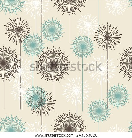 Vintage floral pattern in pastel colors. Hand drawn chrysanthemums flowers.Vector illustration for design of gift packs, wrap,  patterns fabric, wallpaper, web sites and other.  - stock vector