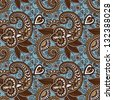 vintage floral seamless paisley pattern - stock vector