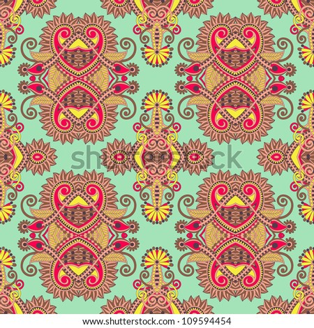 vintage floral seamless pattern - stock vector