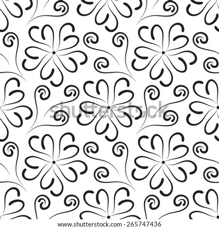 Vintage floral seamless pattern black white stock vector royalty vintage floral seamless pattern black and white flowers background mightylinksfo