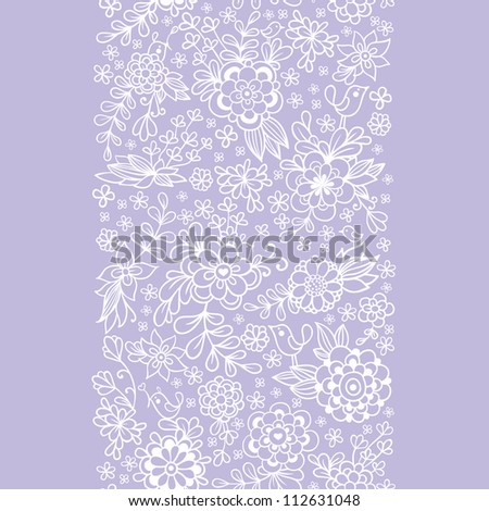 Vintage floral seamless pattern. Vector. - stock vector
