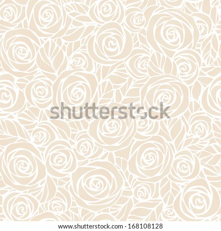 Vintage floral seamless pattern. Vector illustration. Easily editable, objects in the center not cut, every flower and leaf is a separate group. - stock vector