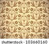 Vintage floral style seamless background, beautiful vector wallpaper or web background pattern. - stock vector