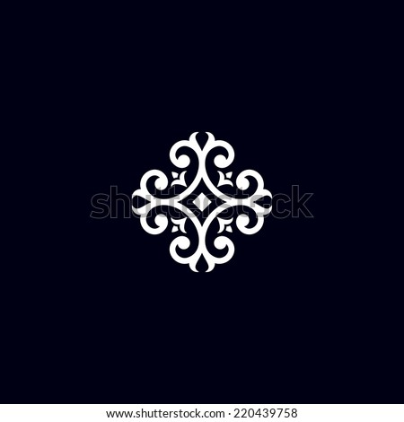 vintage flower element - stock vector