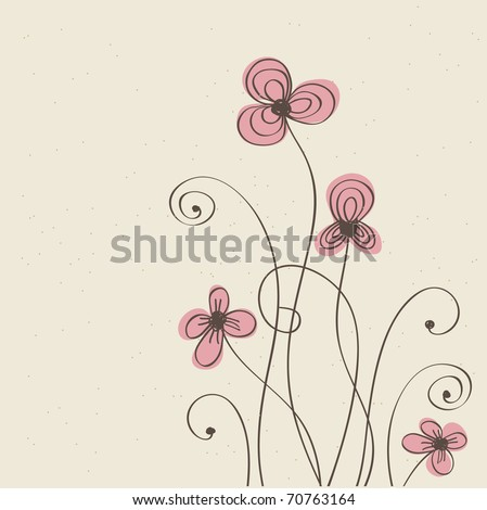 Vintage flower pattern - stock vector