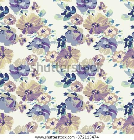 vintage flower ~ seamless background - stock vector