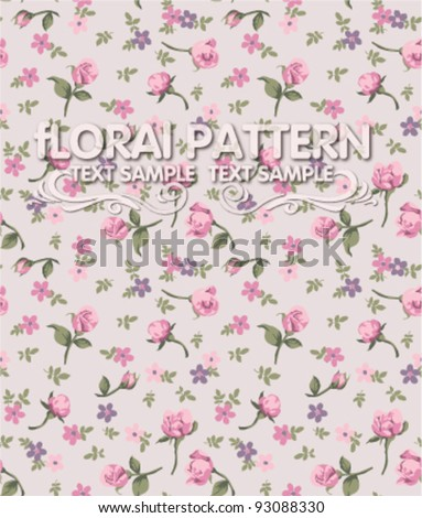 vintage flower seamless pattern background - stock vector