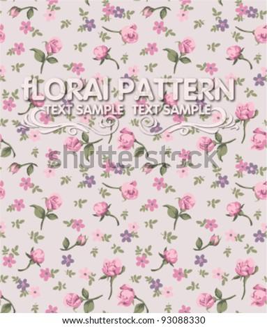 vintage flower seamless pattern background - stock vector