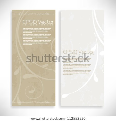 vintage foliage background illustration. eps10 vector format - stock vector