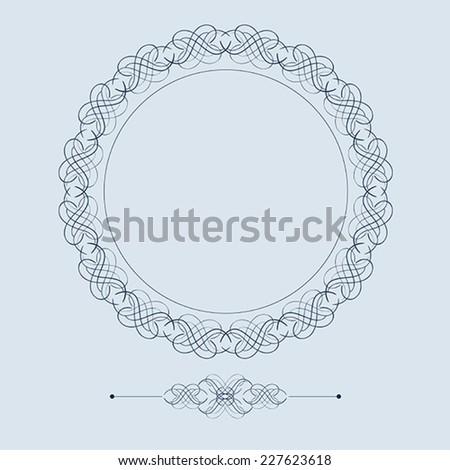 Vintage frame. Decor elements.  - stock vector