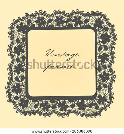 vintage frame. EPS 10 - stock vector