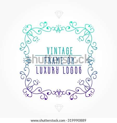 Vintage frame luxury logos greeting cards stock vector 2018 vintage frame for luxury logos greeting cards restaurant boutique business and hotel m4hsunfo