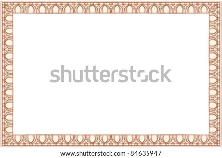 """Vintage frame - hand draw sketch based """"The Five Orders of Architecture"""" is a book on architecture by Giacomo Barozzi da Vignola from 1593. Vector illustration. - stock vector"""
