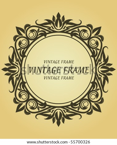 Vintage frame in victorian style. Jpeg version also available in gallery - stock vector