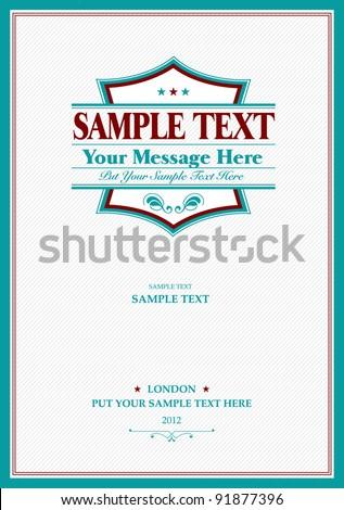 Vintage Frame Template - stock vector