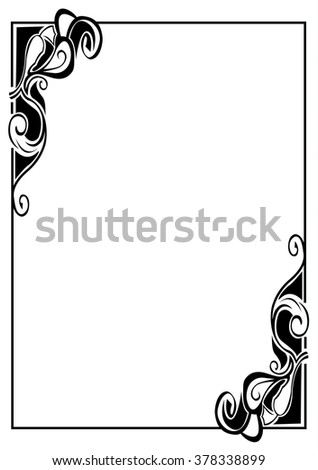 Vintage Frame Template Graphic Frame Classic Stock Vector 378338899 ...