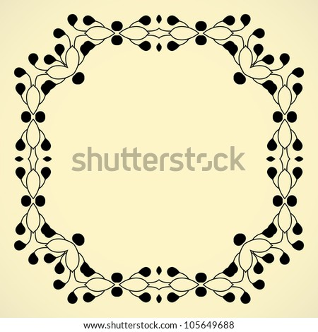 Vintage frame.vector illusration. - stock vector