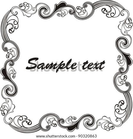 vintage frame vector illustration stock vector 90320863 shutterstock rh shutterstock com vintage frame vector cdr vintage frame vector cdr