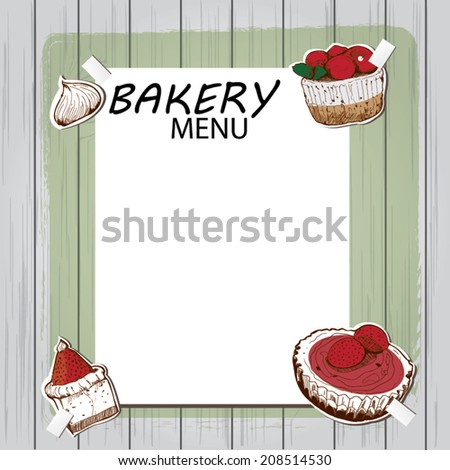 Vintage Frame Cupcake Recipe Card Stock Vector (2018) 208514530 ...