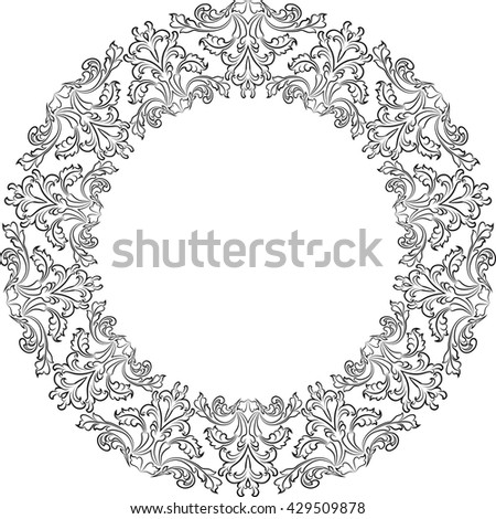 vintage frame with floral ornaments - stock vector