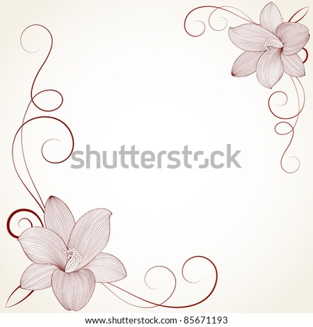Vector calligraphic ornate vintage frame border decorative design...