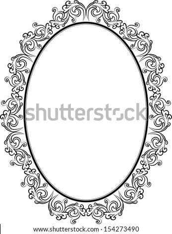 vintage frame design oval. Vintage Frame With Ornaments Design Oval R
