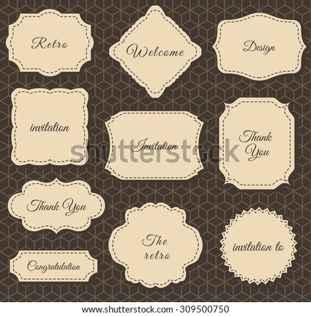 Vintage Frames Dark Background. Printing on fabric and Paper - stock vector