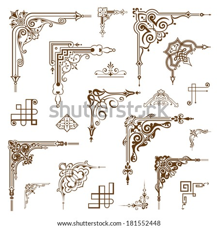 Vintage frames elements - stock vector