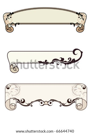 vintage frames , vector set