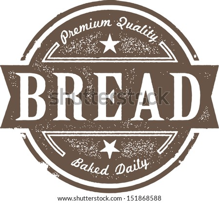 Vintage Fresh Baked Bread - stock vector