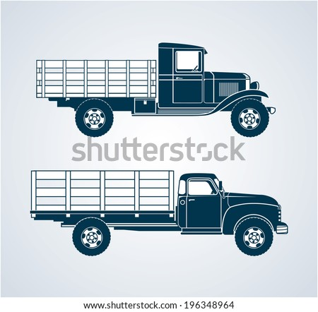 Vintage Fruit Trucks - stock vector