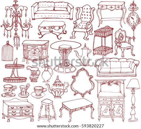 Furniture Drawing Stock Images Royalty Free Images Vectors