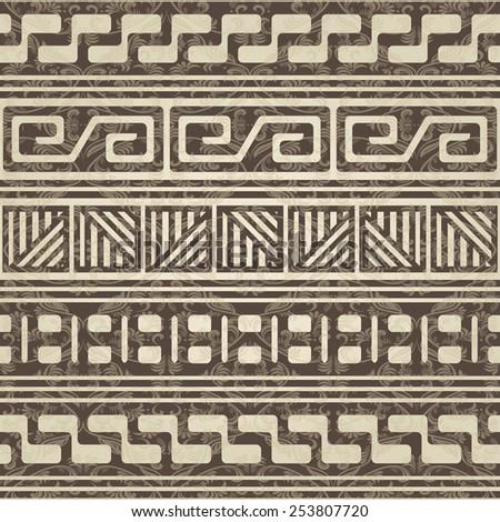 vintage geometric seamless pattern - stock vector