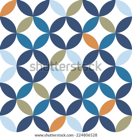 Vintage Geometric Seamless Pattern Vector Illustration  - stock vector