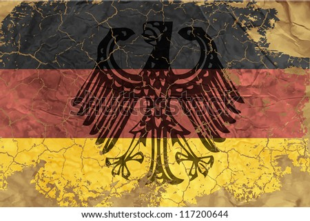 Vintage German flag - stock vector