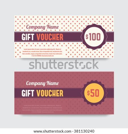 Abstract Gift Voucher Coupon Design Template Vector – Voucher Design