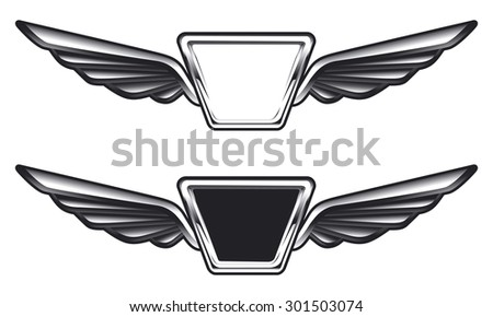 vintage glossy air force shields - stock vector
