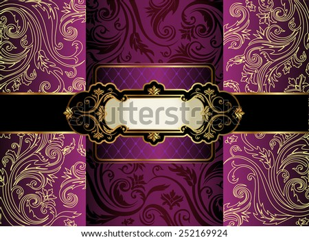 Vintage gold frame  - stock vector