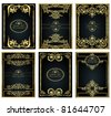 vintage gold frame designs can be use for book cover - stock photo