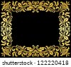 Vintage gold frame with floral elements for luxury design. Jpeg version also available in gallery - stock photo