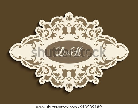 gold frame border vector.  Gold Vintage Gold Frame With Flourish Decoration And Cutout Paper Border Vector  Announcement Or Wedding Invitation Inside Gold Frame Border Vector