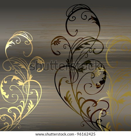 Vintage gold luxury decorative ornate background - stock vector