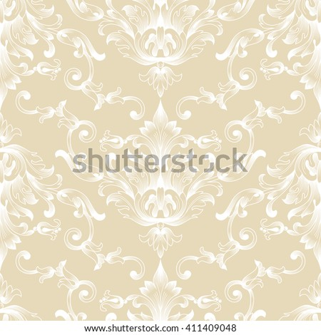 Vintage graphical floral ornamental seamless pattern. Vector. - stock vector