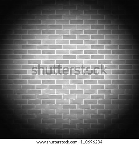 Vintage gray brick wall, vector eps10 illustration - stock vector
