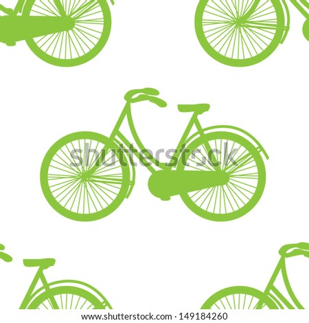 vintage green design. bicycle pattern seamless. vector illustration.