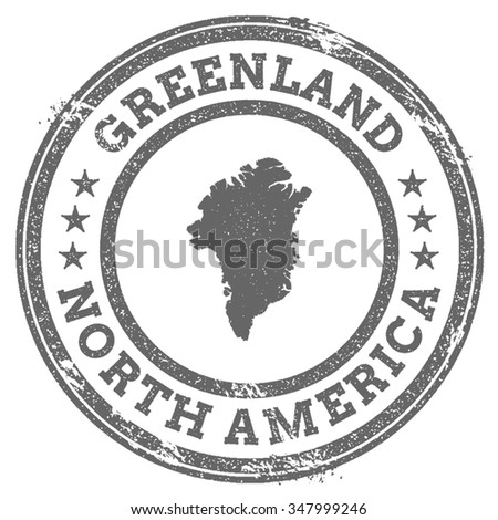 Vintage Greenland Stamp Continent Name Grunge Stock Vector - Why is greenland not a continent